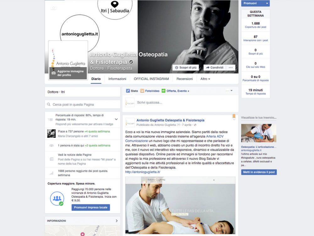 Gestione social Facebook