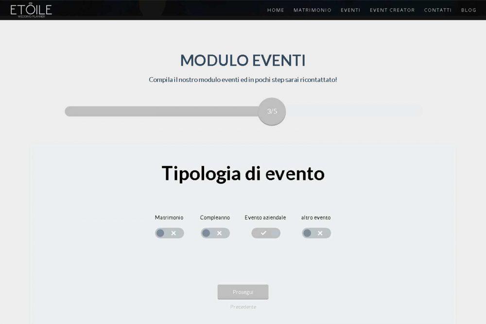 Realizzazione strumento online di organizzazione evento